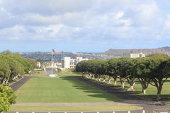 Nationaler Erinnerungskirchhof des Pazifiks stockfotografie