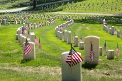Nationaler Friedhof Stockbild