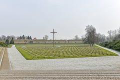 Nationaler Friedhof in Terezin Stockbilder