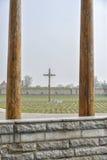 Nationaler Friedhof in Terezin Stockfotografie