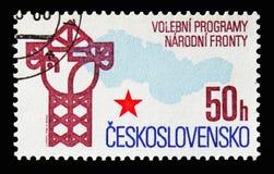 Nationaler Front Election Program, serie, circa 1986 stockbilder