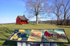 Nationaler historischer Park Saratoga, New York, USA Stockbild