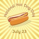 Nationaler Hotdog-Tag - 23. Juli Lizenzfreie Stockfotos
