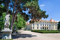 Nationaler kultureller Markstein des barocken Schlosses am 19. Juni 2014 in Slavkov - Austerlitz nahe Brno, Süd-Moray, Tschechisc Lizenzfreie Stockfotografie