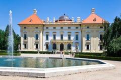 Nationaler kultureller Markstein des barocken Schlosses am 19. Juni 2014 in Slavkov - Austerlitz nahe Brno, Süd-Moray, Tschechisc Stockbilder