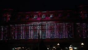 Nationaler Militärkreis - Festival von Lichtern stock video