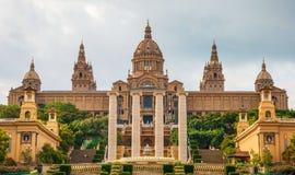 Nationaler Palast in Barcelona Stockfoto