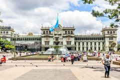 Nationaler Palast der Kultur, Plaza de la Constitucion, Guatemala stockbild