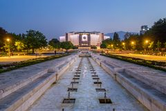 Nationaler Palast der Kultur, Sofia - Bulgarien lizenzfreies stockfoto