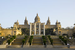 Nationaler Palast von Barcelona Stockfotos