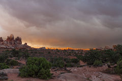 Nationaler Park-Labyrinth-Bezirk Utahs-Canyonlands Stockfoto