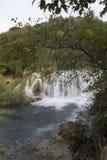 Nationaler Parkland von Krka in Kroatien, mit seinen szenischen Wasserfällen Stockfotos