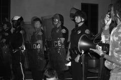 Nationaler Protest über Regelung Ferguson-großen Geschworenengerichts Stockbilder