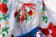 Nationaler Ukrainer gesticktes shirtÑŽ Stockfoto