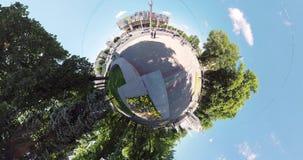 Nationales akademisches Theater Charkiws des kleinen Planeten der Oper und des Balletts stock video footage