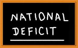 Nationales Defizit stockbilder