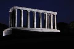 Nationales Denkmal nachts Lizenzfreie Stockbilder