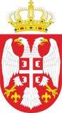 Nationales Emblem Serbien lizenzfreie stockfotografie
