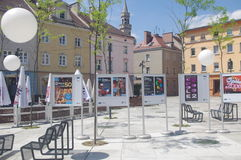 Nationales Festival des polnischen Lied-Posters Stockfotografie
