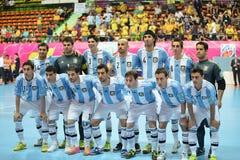 Nationales futsal Team Argentiniens Lizenzfreie Stockfotos