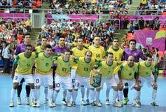 Nationales futsal Team Brasiliens Lizenzfreies Stockbild
