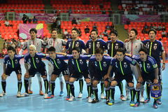 Nationales futsal Team Japans lizenzfreie stockbilder