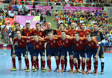 Nationales futsal Team Spaniens Lizenzfreie Stockfotos