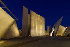 Nationales Holocaust-Monument nachts Lizenzfreie Stockbilder