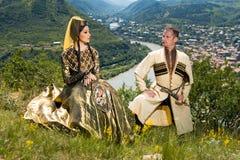 Nationales Lied-und Tanz-Ensemble von Georgia Erisioni lizenzfreies stockbild