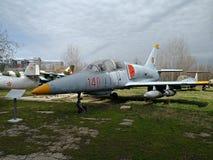 Nationales Luftfahrt-Museum - Militärflugzeug stockbild