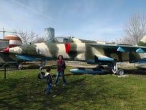 Nationales Luftfahrt-Museum - Militärflugzeug lizenzfreies stockfoto