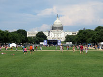 Nationales Mall an einem Sommer-Tag Lizenzfreies Stockbild