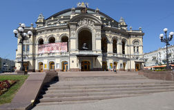 Nationales Opernhaus in Kiew, Ukraine Lizenzfreie Stockfotos