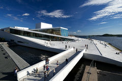 Nationales Oslo-Opernhaus Weitwinkel Lizenzfreie Stockfotos