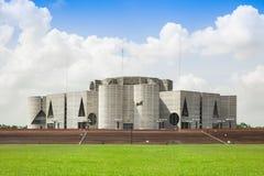 Nationales Parlament Bangladesch Jatiya Sangsad Bhaban lizenzfreie stockfotos