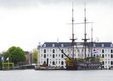 Nationales Seemuseum in Amsterdam, die Niederlande Stockbilder