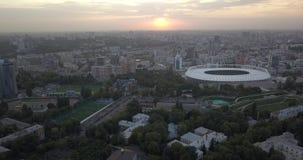 Nationales Sport komplexes ` olympisches ` Stadion, olympisch auf Pechrski-Bezirk Pixel 4k 4096 x 2160 stock video footage