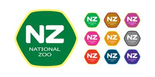 Nationales Zoo-Zeichen 22 vektor abbildung