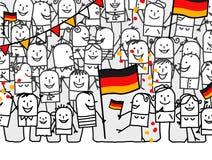 Nationalfeiertag - Deutschland Stockfotos