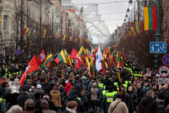 Nationalist rally in Vilnius Stock Photo