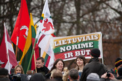 Nationalist rally in Vilnius Stock Photos