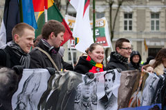 Nationalist rally in Vilnius Royalty Free Stock Image