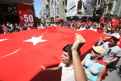 Nationalist Turkish Demonsration Stock Images