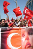 Nationalist Turkish Demonsration Stock Image