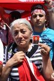 Nationalist Turkish Demonsration Stock Image
