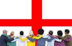 Nationalité Liberty Concept de pays de drapeau de l'Angleterre Photo stock