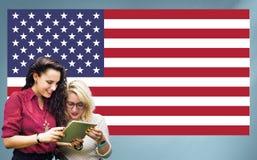 Nationalité Liberty Country Concept de drapeau américain Photos stock