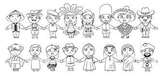 nationalités illustration stock