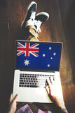 Nationalitet Liberty Concept för Australien flaggaland Royaltyfria Bilder