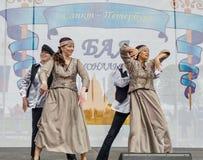 The Nationalities Ball participants: Jewish ensemble. Royalty Free Stock Photos